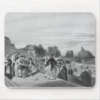 View of the Terrace, Central Park, 1872 Mousepads