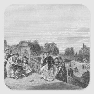 View of the Terrace, Central Park, 1872 Square Sticker