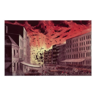 View of the Terrific Explosion at the Great Fire Poster
