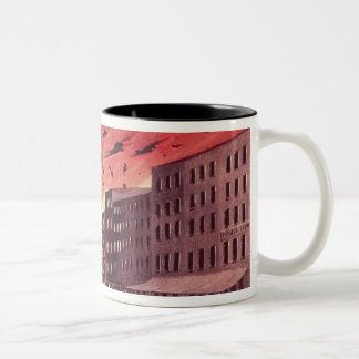 View of the Terrific Explosion at the Great Fire Two-Tone Coffee Mug