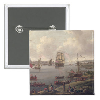 View of the Thames, 1761 Button