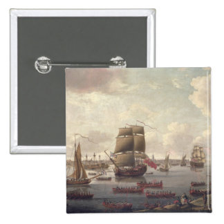 View of the Thames, 1761 Pinback Button