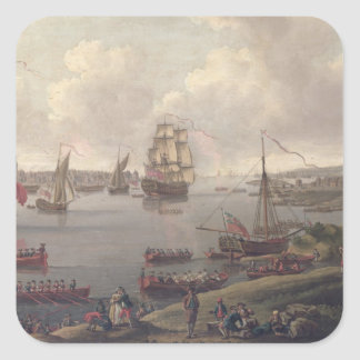 View of the Thames, 1761 Square Sticker
