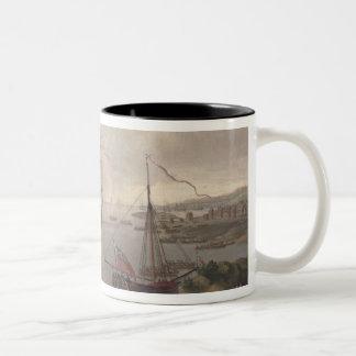 View of the Thames, 1761 Two-Tone Coffee Mug