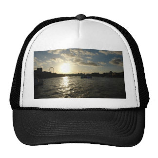 View of the Thames at sunset Hat