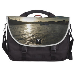 View of the Thames at sunset Bag For Laptop