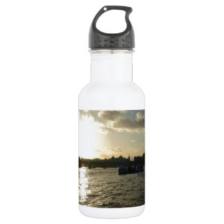 View of the Thames at sunset 18oz Water Bottle