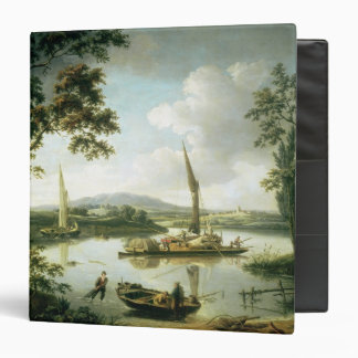 View of the Thames from Keen Edge Ferry 3 Ring Binder