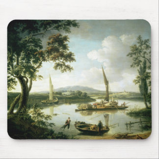 View of the Thames from Keen Edge Ferry Mouse Pad