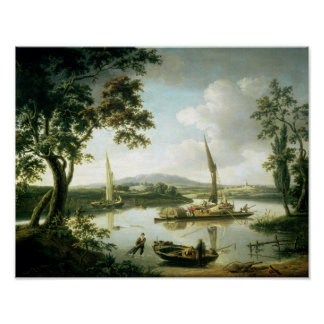 View of the Thames from Keen Edge Ferry Poster