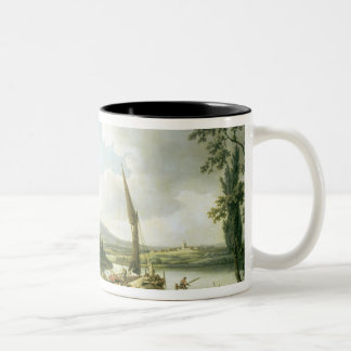 View of the Thames from Keen Edge Ferry Two-Tone Coffee Mug