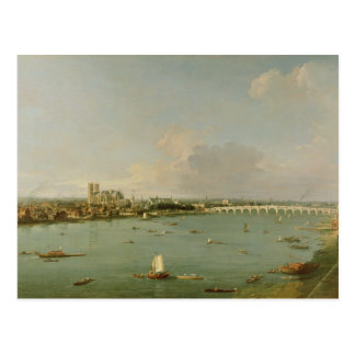 View of the Thames from South of the River Postcard