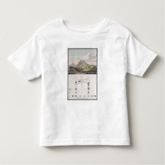 View of the Theatre at Sardis and a plan of the Io Toddler T-shirt