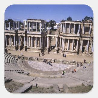 View of the theatre, begun 24 BC (photo) 4 Square Sticker