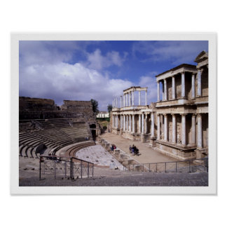 View of the theatre, begun 24 BC (photo) 5 Poster