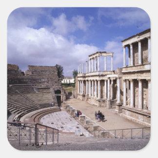 View of the theatre, begun 24 BC (photo) 5 Square Sticker
