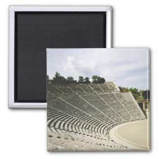 View of the theatre, c.360 BC 2 Inch Square Magnet