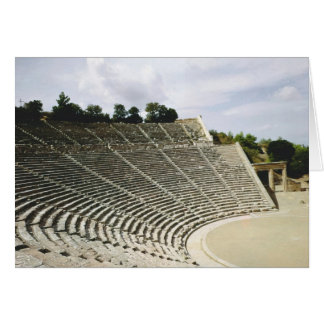 View of the theatre, c.360 BC Card