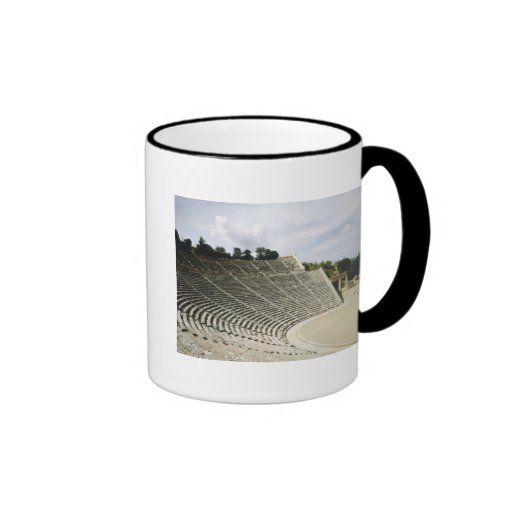 View of the theatre, c.360 BC Coffee Mugs