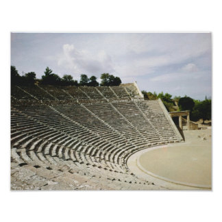 View of the theatre, c.360 BC Poster