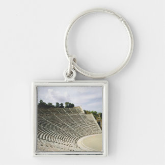 View of the theatre, c.360 BC Silver-Colored Square Keychain