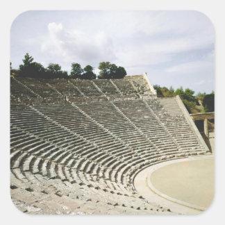 View of the theatre, c.360 BC Square Sticker
