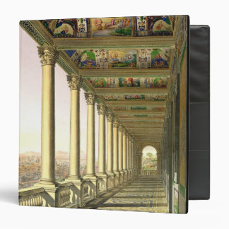 View of the third floor Loggia at the Vatican, wit 3 Ring Binders