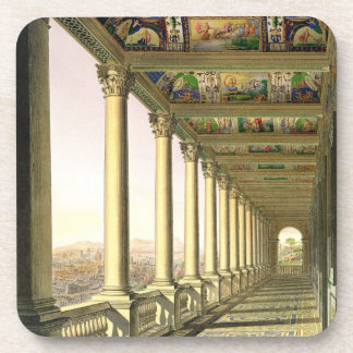 View of the third floor Loggia at the Vatican, wit Drink Coaster