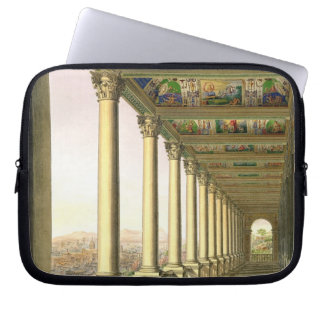 View of the third floor Loggia at the Vatican, wit Laptop Computer Sleeve