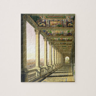 View of the third floor Loggia at the Vatican, wit Puzzle