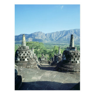 View of the three circular terraces postcard