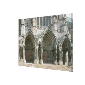 View of the three portals of the north transept (p canvas print