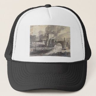 View of the Tiber and Castel St. Angelo by Jacques Trucker Hat