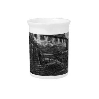 View of the Tiber Island by Giovanni Battista Pira Drink Pitcher