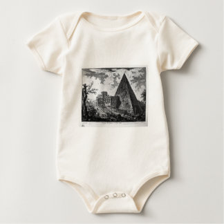 View of the Tomb of Caius Cestius by Giovanni Batt Baby Bodysuit