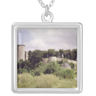 View of the Tour de Talbot and keep of the Silver Plated Necklace