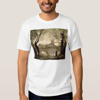View of the Town and Cathedral of Mantes T Shirt