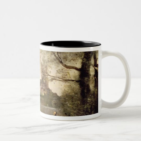 View of the Town and Cathedral of Mantes Two-Tone Coffee Mug
