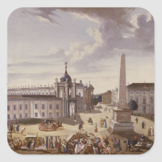 View of the Town Hall, 1772 Square Sticker