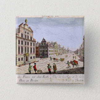 View of the Town Hall, Boston Pinback Button