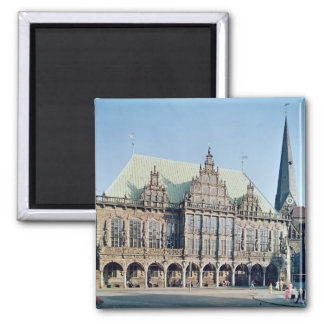 View of the Town Hall, built 1405-09 2 Inch Square Magnet