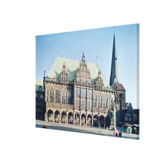 View of the Town Hall built 1405-09 Canvas Print