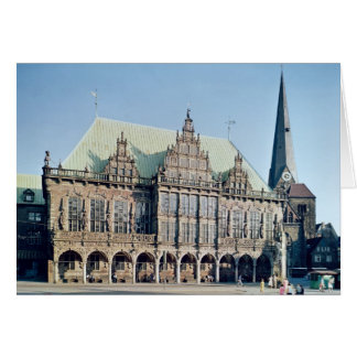 View of the Town Hall built 1405-09 Greeting Card