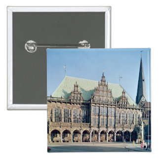 View of the Town Hall, built 1405-09 Pinback Button