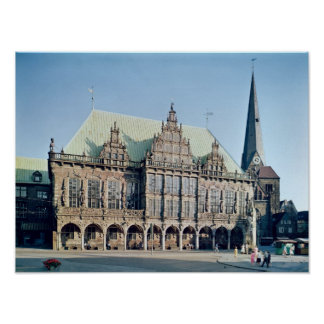 View of the Town Hall built 1405-09 Posters