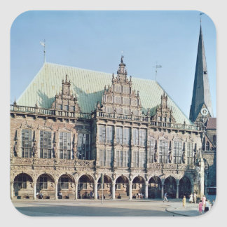 View of the Town Hall, built 1405-09 Square Sticker