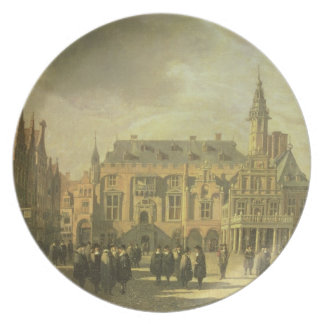 View of the Town Hall in the Market Square of Haar Plate