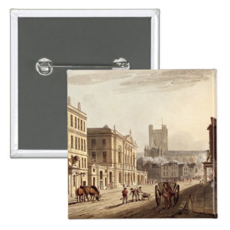 View of the Town Hall, Market and Abbey Church, fr Pinback Buttons