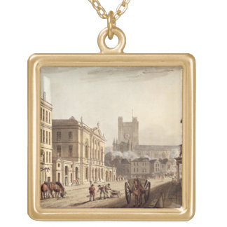View of the Town Hall, Market and Abbey Church, fr Custom Necklace