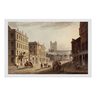 View of the Town Hall, Market and Abbey Church, fr Poster